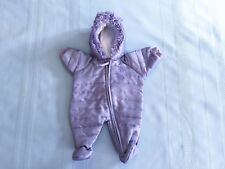 American Girl Bitty Baby Doll Snowflake Snowsuit Purple Lavender Outfit