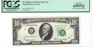 1969 $10.00 Star Fr. 2018-G* Gem New 65 PPQ PCGS