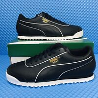 Puma Roma Basic BW (Men's Size 11) Athletic Sneakers Casual Black Shoes