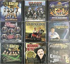 9 CD LOT SPANISH Mexican Cachorros Beto Chuy Bondadosos Humildes Miguel Luis