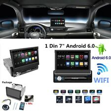 """7"""" In Android 6.0 GPS Navi Car Stereo Radio Quad Core Single 1Din BT 1080P WiFi"""