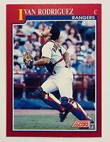 1991 Score Rookie/Traded #82T Ivan Rodriguez Rookie Baseball Card Texas Rangers