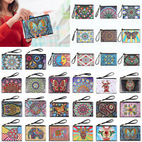 DIY Special Shaped Diamond Painting Women Wristlet Clutch Wallet Bag Purse Pouch