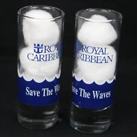 Pair of Royal Caribbean Shot Glasses Save the Waves