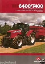 Farm Tractor Brochure - Massey Ferguson - MF 6400 7400 series - 2008 (F2480)