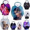 Fashion Women/Men Ariana Grande 3D Print Casual Hoodies Sweatshirt Pullover Tops