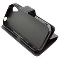 caseroxx Bookstyle-Case for Cat S41 in black made of faux leather