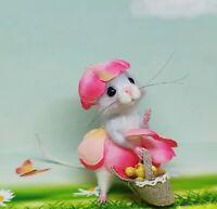 Needle Felted Mouse 'Ada' Animal Artist Teddy Mice Gift Ooak by Viktorija