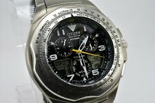 Citizen Eco Drive Titanium Skyhawk C650, cleaned, serviced, new MG crystal, test