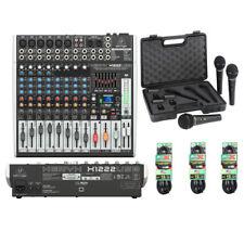 Behringer XENYX X1222USB 16-Input Mixer, XM1800S Set Of 3 Mics and Mics Cables