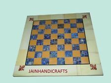 """Marble Coffee Center  center chess Table Top 18"""" Inlay corner side square"""