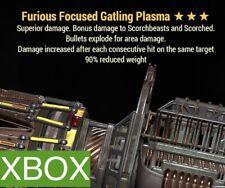 FE 90 GATLING PLASMA XBOX FO 76 FURIOUS EXPLOSIVE 90 RW GAT PLAS PVP LEGACY META