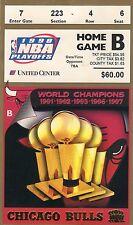 1998 MICHAEL JORDAN WORLD CHAMPION CHICAGO BULLS PLAYOFF TICKET STUB