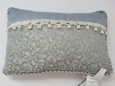 Waterford Beckley Ball Fringe Rectangle deco pillow nwt