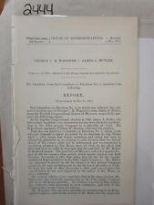 Govt Report 1903 George C.R. Wagoner vs James J Butler #2444