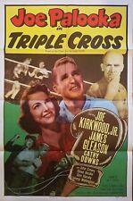JOE PALOOKA IN TRIPLE CROSS (1951) JOE KIRKWOOD JR AS THE COMIC STRIP BOXER! 1SH