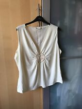 A NEW WITHOUT TAGS M&S Size 18 SEQUIN DETAILED CREAM TOP
