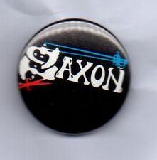 SAXON BUTTON BADGE English Heavy Metal Band - Wheels Of Steel - 747  25mm PIN