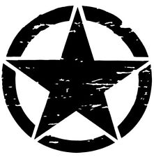 Distressed Military Invasion Star Jeep Decal Sticker Vinyl USA Army buy2get1free
