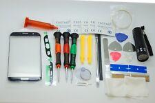 SAMSUNG S7 bordo Nero Schermo Vetro Set di riparazione, colla, cacciaviti, strumenti di qualità