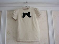 NWT JANIE AND JACK VICTORIAN HOLIDAY BOW METALLIC STRIPE TOP SHIRT 3 3T GOLD