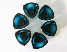 6x Schale Nuutajärvi Glas Set of  Kaj Franck Bullseye glass bowl verre annees 50
