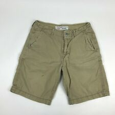 "AMERICAN EAGLE Classic Prep Flat Front Casual 20"" Chino Shorts 100% Cotton 32"