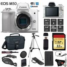 Canon EOS M50 Mirrorless Digital Camera (White, Body Only)