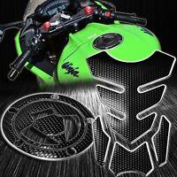 4PC Black Tank Pad+Gas/Fuel Cap Cover 07+ Ninja ZX-6R/10R/14R/650 Chrome Silver