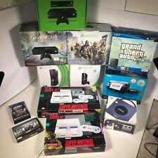 Lot of Video Game Consoles EMPTY BOXES Super Nintendo Gamecube Xbox PS3 [CA09]