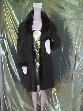 Shearling Coat Brown Van Ludd Swing Style Made in Italy Ladies sz 18 Fur & Suede