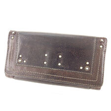 Chloe Wallet Purse Paddington Brown Woman unisex Authentic Used Y7418