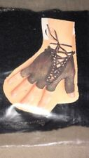 Black Fingerless Fishnet Short Lace up Gloves Steampunk Costume Accessories NEW!