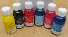 Epson Pigment refill ink 100ml x 6 High quality Yellow Magenta Black Cyan ....
