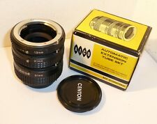 SET of 3 QUALITY AICO MINOLTA MC MD SR MOUNT AUTO EXTENSION TUBES 65mm in TOTAL