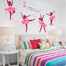 1pc Ballet Dancers Wall Sticker Vinyl DIY Butterflies Art for Dance Studio Decor