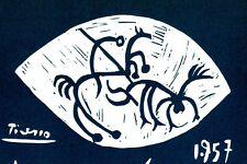 PICASSO SIGNED 1964 LITHOGRAPH +COA unique MESMERIC Pablo Picasso RARE ART PRINT