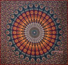 Tagesdecke Bettüberwurf   Pfauenaugen Dekotuch Indien Wandbehang Hippie Überwurf