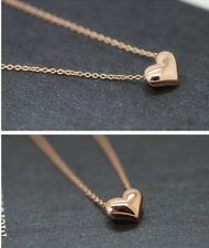 Gold Plated Heart Womens Bib Statement Chain Jewelry Pendant Necklace lovely