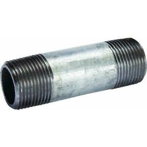 """1"""" X 3"""" inch Long Galvanized Steel Malleable Nipple Gas Pipe Fitting"""