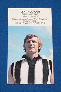 1974 Dinkum Pies Footballer of The Week Len Thompson Collingwood