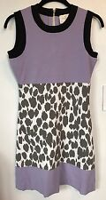 NEW Kate Spade Stretch Dress in Lavender & Black, Grey Leopard Spots Size S $298