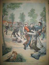 DOUANIER CONTREBANDIER MARTINOIRE WATRELOS MAISON LEGION LE PETIT PARISIEN 1901