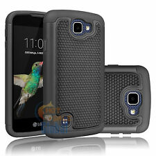 Rugged Hybrid Rubber Case Cover for LG Optimus Zone 3 / K4 / Spree / Rebel LTE