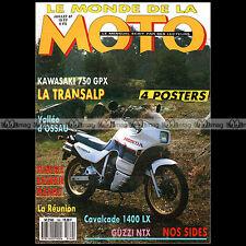 LE MONDE DE LA MOTO N°149-c SUZUKI 1400 CAVALCADE KAWASAKI GPX 750 R GUZZI NTX