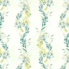 Laura Ashley Rolls Of Wallpaper - Design- Floral Stripe, Green & Grey Same Batch