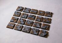 20mm square scenic resin paved bases Qty 20-50 unpainted by Daemonscape.com