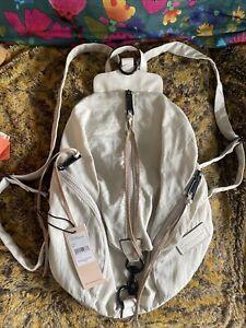 Julian Backpack Rebecca Minkoff Bone Nylon  Black Hardware MSRP $145