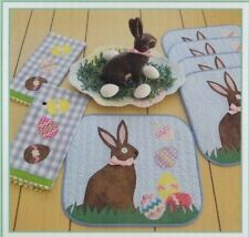 PATTERN - Easter Egg Hunt - applique tea towels & placemats PATTERN