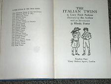 The Italian Twins by Lucy Fitch Perkins 1954 illustrated